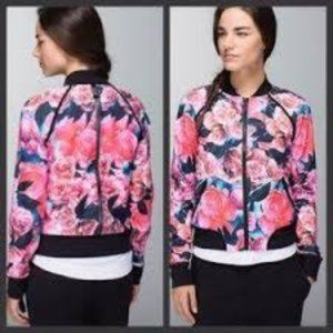 Lululemon | om me home jacket secret garden print